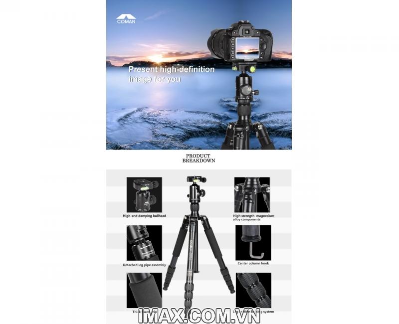 Chân máy ảnh/ Tripod Coman TM256ACO 2