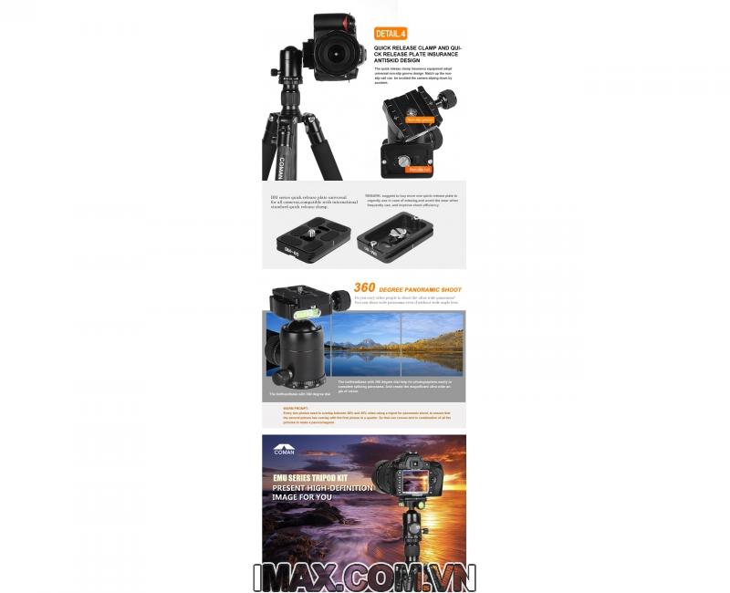 Chân máy ảnh/ Tripod Coman TM256ACO 6