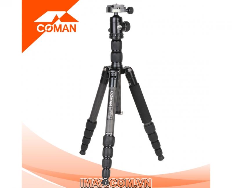 Chân máy ảnh Coman TM258CC0, Carbon 2