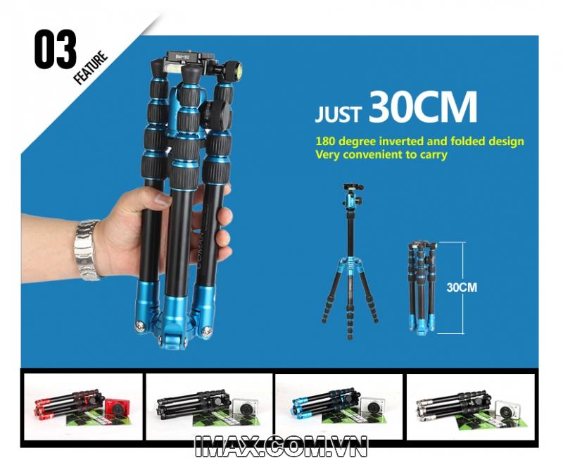 Chân máy ảnh Coman TM227AU0 8