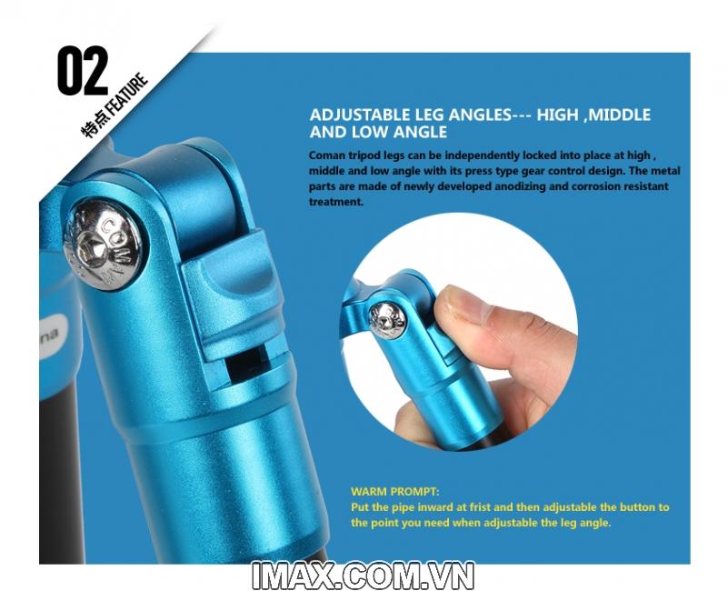 Chân máy ảnh Coman TM227AU0 20