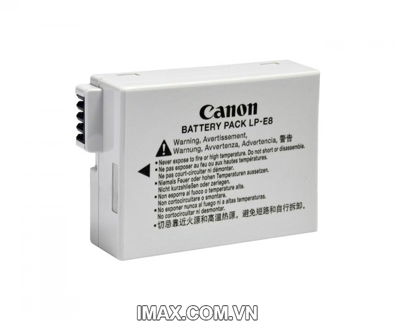 Pin chính hãng Canon LP-E8 dùng cho Canon EOS 550D 600D 650D 700D, Rebel T2i T3i Digital T4i 1
