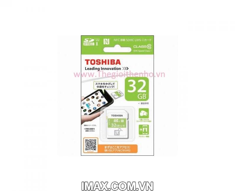 Thẻ nhớ SDHC Toshiba NFC 32GB Class 10 UHS-I 6
