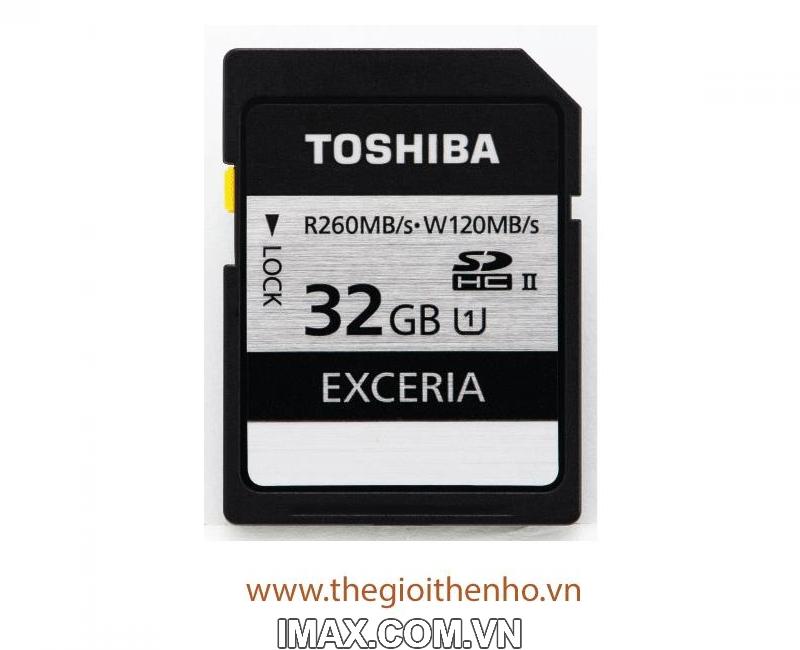 Thẻ nhớ Toshiba EXCERIA 32GB UHS-II  260/120MB/s 1