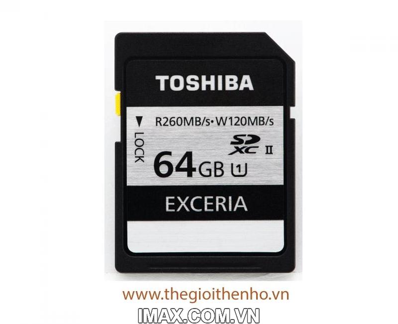 Thẻ nhớ Toshiba EXCERIA 64GB UHS-II  260/120MB/s 2