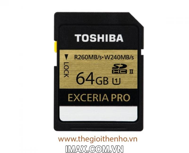 Thẻ nhớ Toshiba EXCERIA PRO 64 GB UHS-II 2