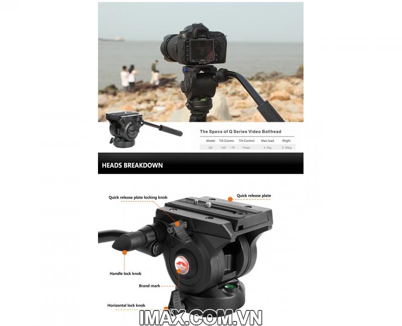 Chân máy ảnh Monopod Coman DX327CQ5 5