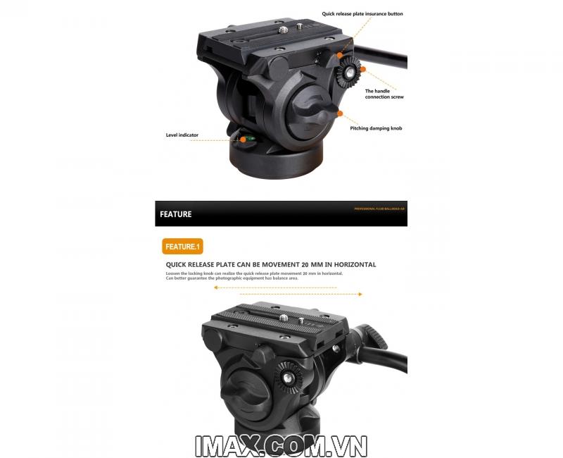 Chân máy ảnh Monopod Coman DX327CQ5 6