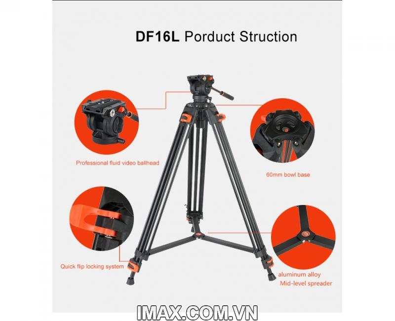 Chân máy quay Coman DF-16 17