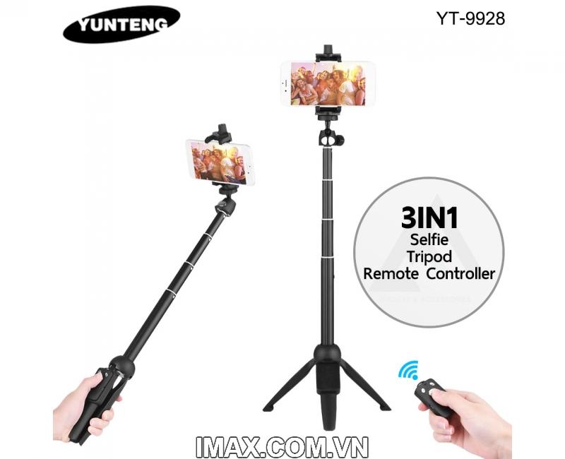 Gậy chụp ảnh có chân đế Yunteng YT9928, có điều khiển Bluetooth 4