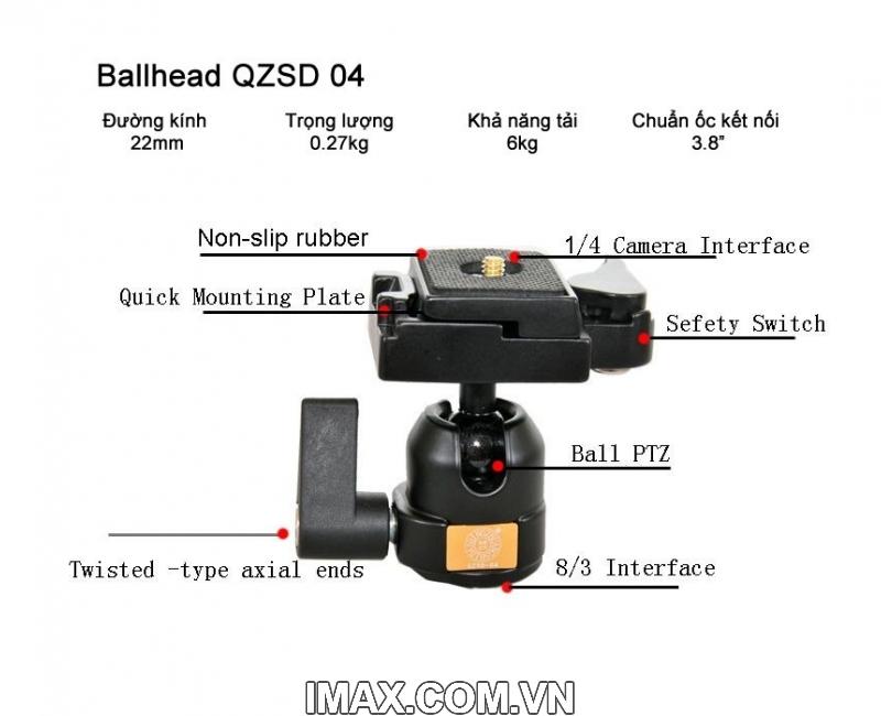 Đầu bi Ball Head Beike BK-04 3