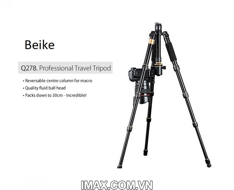 Chân máy ảnh Beike Q278, Tripod kết hợp monopd 2