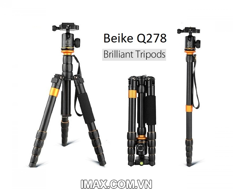 Chân máy ảnh Beike Q278, Tripod kết hợp monopd 1