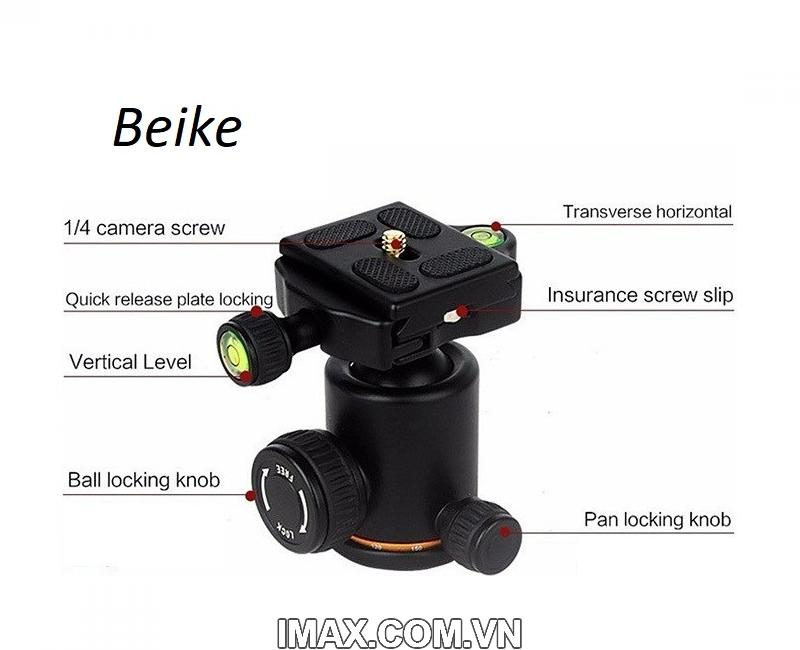 Chân máy ảnh Beike Q278, Tripod kết hợp monopd 4