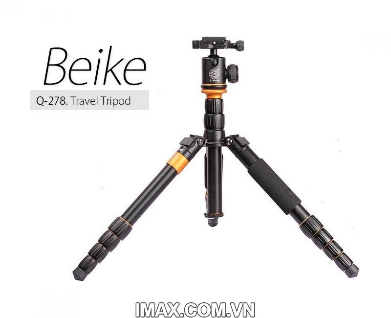 Chân máy ảnh Beike Q278, Tripod kết hợp monopd 8