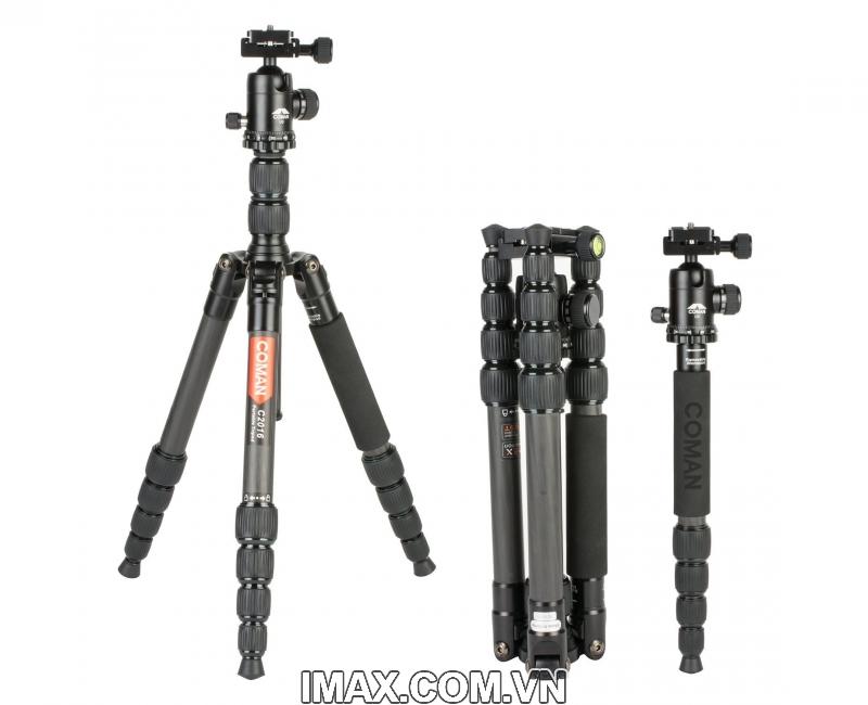 Chân máy ảnh Tripod/ Monopod Coman C2016 Carbon 8