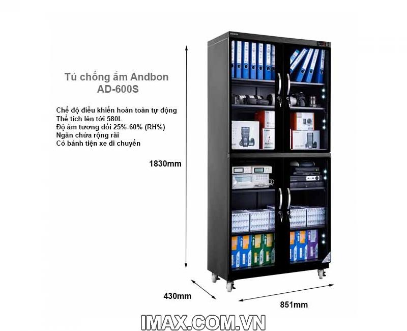 Tủ chống ẩm Andbon AD-600S 2