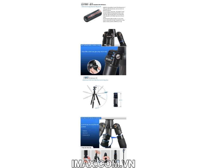 Chân máy ảnh BENRO FIF19CIB0, Carbon 14