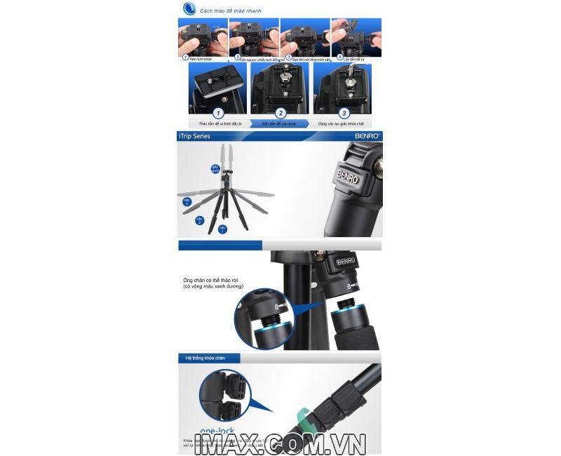 Chân máy ảnh Tripod/ Monopod BENRO ITRIP IT15 8