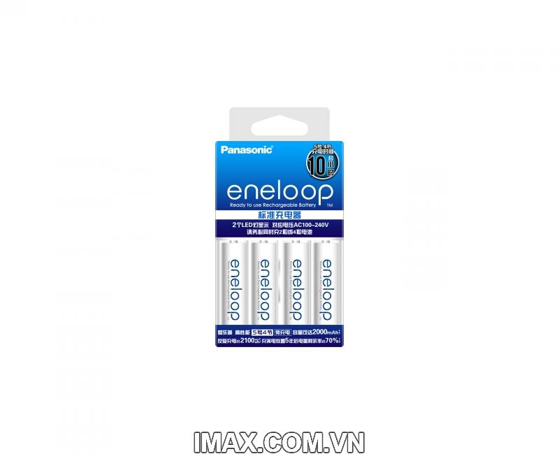 Bộ CC51 gồm 4 pin 1 sạc AA Eneloop Panasonic 1900mAh, 2100 lần sạc 8