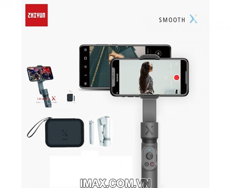 Combo Zhiyun Smooth X + chân đế + túi - Hàng chính hãng 1