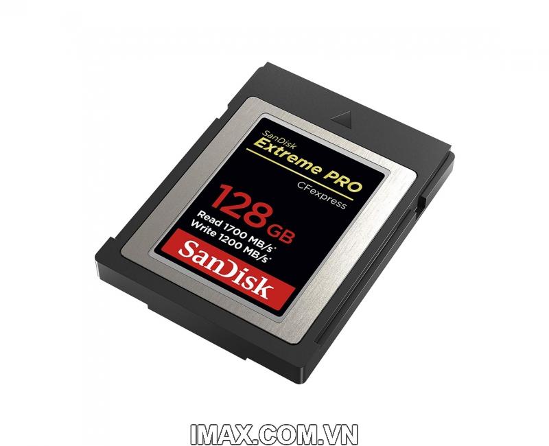Thẻ nhớ CFexpress Type B card Sandisk Extreme Pro 128GB 1700/1200MB/s 3