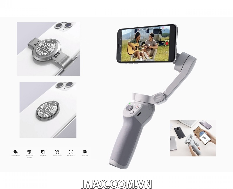 Thiết bị chống rung DJI Osmo Mobile 4 - Gimbal 3 trục cho điện  thoại - Hàng chính hãng 6