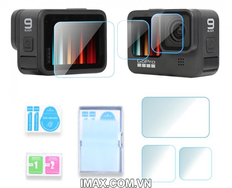 Tấm dán cường lực GoPro Hero 9 Black, Dán màn hình + ống kính 1