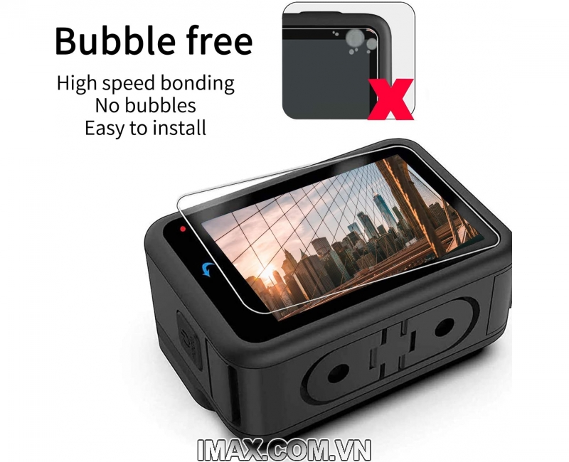Tấm dán cường lực GoPro Hero 9 Black, Dán màn hình + ống kính 3