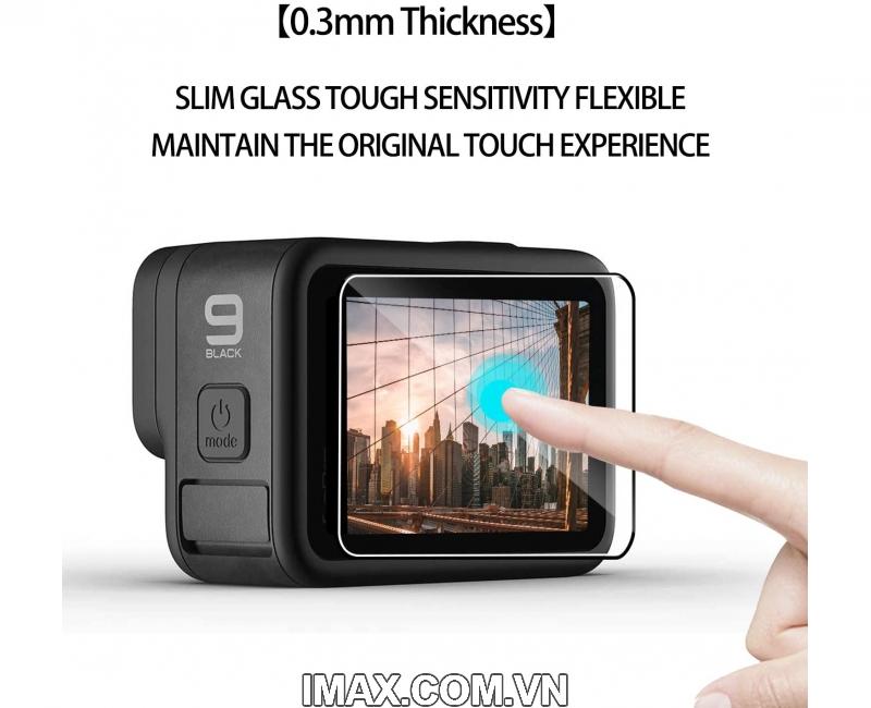 Tấm dán cường lực GoPro Hero 9 Black, Dán màn hình + ống kính 4