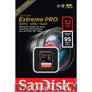 Sandisk SDHC 32GB Extreme Pro Class 10, U3, 95MB/s