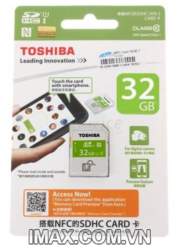 Thẻ nhớ SDHC Toshiba NFC 32GB Class 10 UHS-I
