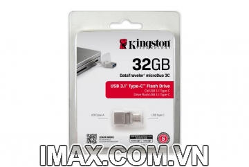 USB Kingston 32GB DataTraveler microDuo 3C USB Type-A và USB Type-C - 100MB / s