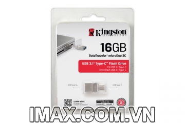 USB Kingston 16GB DataTraveler microDuo 3C USB Type-A và USB Type-C - 100MB / s
