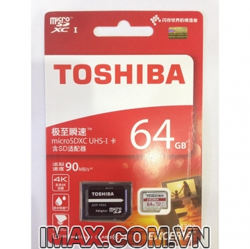 Thẻ nhớ Toshiba Exceria micro SDXC 64G 90MB/s