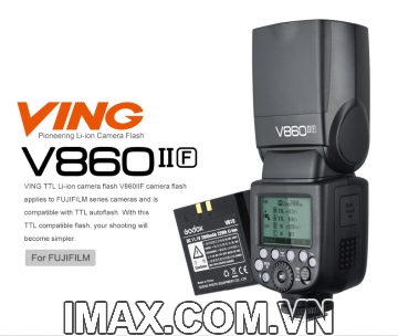 Đèn flash GODOX V860II for Fujifilm - Hàng nhập khẩu