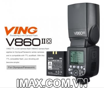 Flash Godox V860IIO for Olympus- Hàng nhập khẩu