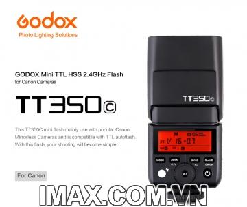 FLASH GODOX TT350C FOR CANON- HÀNG NHẬP KHẨU