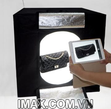 Hộp chụp sản phẩm Ciya CN-60, 4 thanh led, 2 màu trắng-vàng