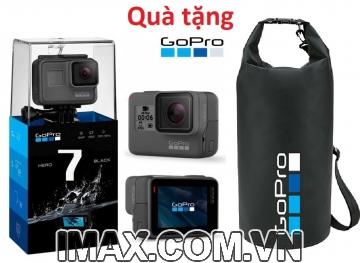 Combo Gopro Hero 7 Black, Tặng túi chống nước Gopro +Thẻ nhớ 32 gb + gậy mini cho gopro