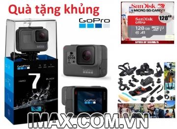 Combo Gopro Hero 7 Black + Thẻ 128GB 100MB/s + Bộ phụ kiện 57 in 1