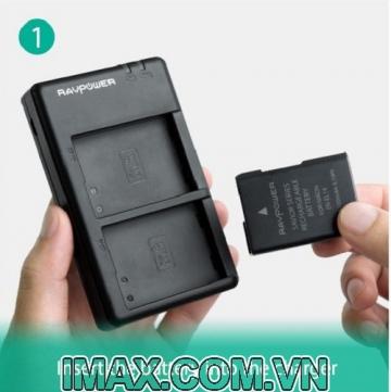 1 Pin 1 Sạc kép  máy quay Sony NP-F550 Ravpower RP-BC006, 2 pin 2900mAh