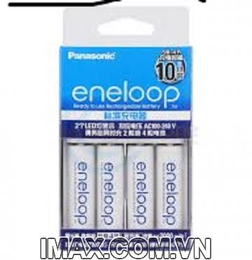 Bộ 4 pin 1 sạc AA Eneloop Panasonic 1900mAh, 2100 lần sạc