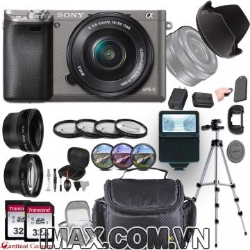 Combo 2 Máy ảnh Sony Alpha a6000 + lens 16-50 mm + 2 thẻ nhớ 32gb + chân máy + bộ phụ kiện.