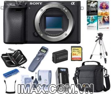 Body SONY ALPHA A6400 + Thẻ nhớ 64gb + Chân máy + Bộ vệ sinh + Túi đựng máy + Hộp đựng thẻ