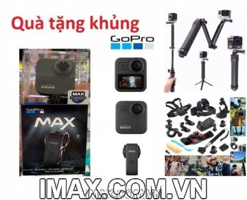 Combo 1 Máy Quay Gopro Max 360 ( FPT) + 02 thẻ sandisk 64gb 275mb/s quay 5.6K+Gậy 3 way +Chân nhện để bàn