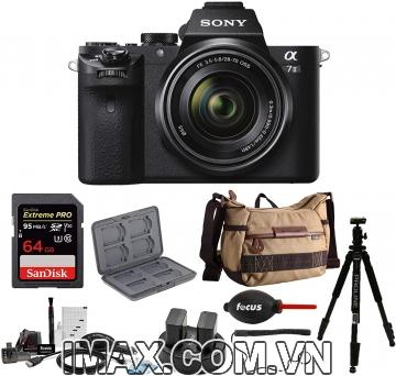 Combo 1 Máy ảnh Sony Alpha A7M2 (ILCE7M2) + lens 28-70 mm + thẻ nhớ 64gb + Túi đeo chéo + bộ phụ kiện