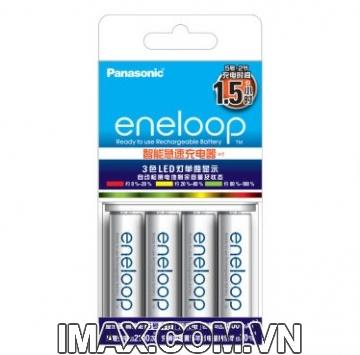 Bộ 4 pin 1 sạc nhanh CC55 AA Eneloop Panasonic 1900mAh, 2100 lần sạc