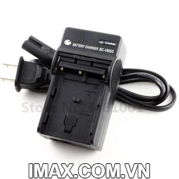 Sạc máy ảnh BC-VM50 cho pin Sony NP-FM50 NP-FM55H NP-FM500H, sạc dây