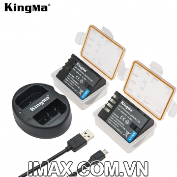 Bộ 2 viên pin và 1 sạc Kingma cho Panasonic DMW-BLF19